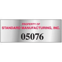 Custom Tamper Evident Identification Tags