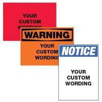 Custom ToughWash® Harsh Washdown Adhesive Signs