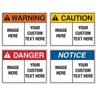 Custom ToughWash® Plastic Encapsulated Signs