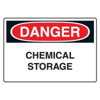 Chemical & Hazardous Material Signs - Danger  Chemical Storage