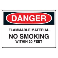 Chemical & Hazardous Material Signs - Danger  Flammable Material