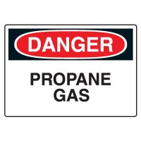 Propane Gas Danger Sign