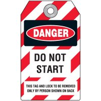 Danger Do Not Start - Lockout Tag, Plastic