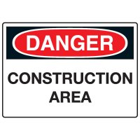 Machine & Operational Signs - Danger Construction Area