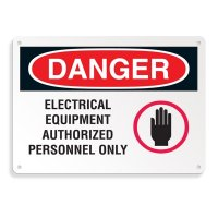 Danger Signs - Electrical Equipment Authorized Personnel Only