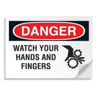 Danger Signs - Watch Your Hands And Fingers