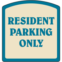 Designer Property Signs - Resident Parking Only