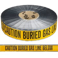 Underground Detectable Warning Tape - Caution Buried Gas Line Below