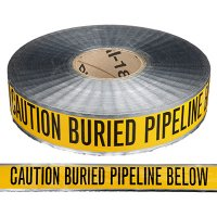Underground Detectable Warning Tape - Caution Buried Pipeline Below