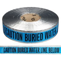 Underground Detectable Warning Tape - Caution Buried Water Line Below
