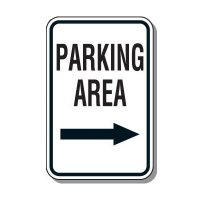 Directional Parking Signs - Parking Area (Right Arrow)