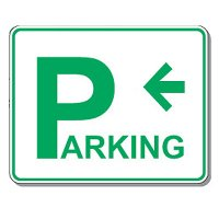 Directional Parking Signs - Parking (Left Arrow)