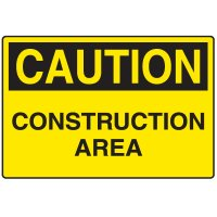Corrugated Plastic Signs - Caution Construction Area