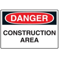 Disposable Plastic Corrugated Signs - Danger Construction Area