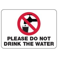 Do Not Drink Water - Water Safety Signs