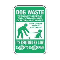 Dog Waste - Semi-Custom Clean Up After Your Dog Signs