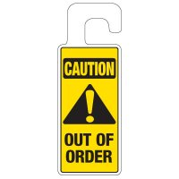 Door Knob Hangers - Caution Out Of Order