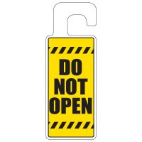 Door Knob Hangers - Do Not Open With Hazard Lines