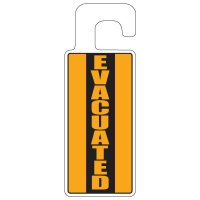 Door Knob Hangers - Evacuated (Vertical)