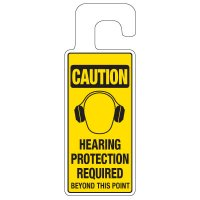 Door Knob Hangers - Hearing Protection Required