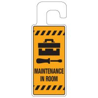 Door Knob Hangers - Maintenance In Room