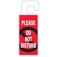 Door Knob Hangers - Please Do Not Disturb
