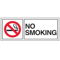 Double-Sided No Smoking Window Signs - NO SMOKING