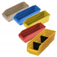 "Durable Plastic Shelf Bins 23-5/8""L x 11-1/8""W x 4""H"