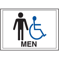 Economy Front Office Signs - Men/Handicap