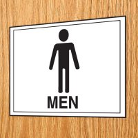 Economy Front Office Signs - Men