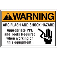 Electrical Safety Labels On-A-Roll - Warning Arc Flash