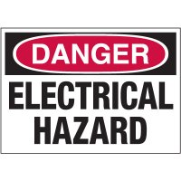 Electrical Warning Labels - Danger Electrical Hazard