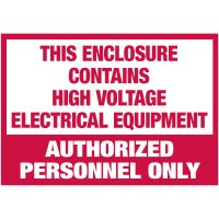 Electrical Warning Labels - This Enclosure Contains High Voltage