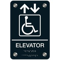 Elevator (Accessibility) - Premium ADA Facility Signs