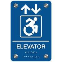 Elevator (Arrow & Dynamic Accessibility) - Premium ADA Facility Signs