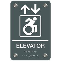 Elevator (Arrow & Dynamic Accessibility) - Premium ADA Facility Signs