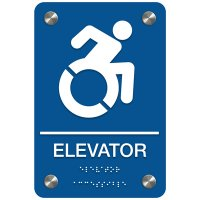 Wheelchair Accessible Elevator Sign