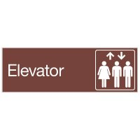 Elevator - Engraved Graphic Room Signs