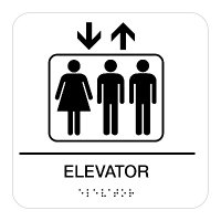 Elevator - Graphic Braille Signs