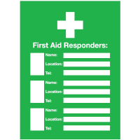 First Aid Responders Emergency Frame With Photo Inserts