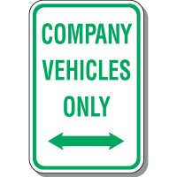 Employee Parking Signs - Company Vehicles Only