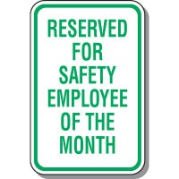 Employee Parking Signs - Reserved For Safety Employee