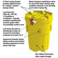 Envirosalv® Poly Salvage Drum Plus and Lock Down Security Kit