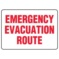 Evacuation & Shelter Signs - Emergency Evacuation Route