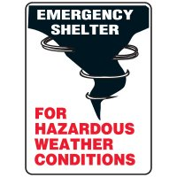 Evacuation & Shelter Signs - Emergency Shelter For Hazardous Weather Conditions