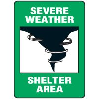 Evacuation & Shelter Signs - Severe Weather Shelter Area