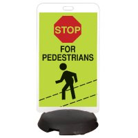 EZ-Roll Sign Stanchion Systems - Pedestrian Crossing