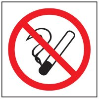 Face Adhesive Signs - No Smoking