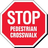 Facility Stop Sign - Pedestrian Crosswalk