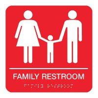 Family Restroom - Braille Restroom Signs